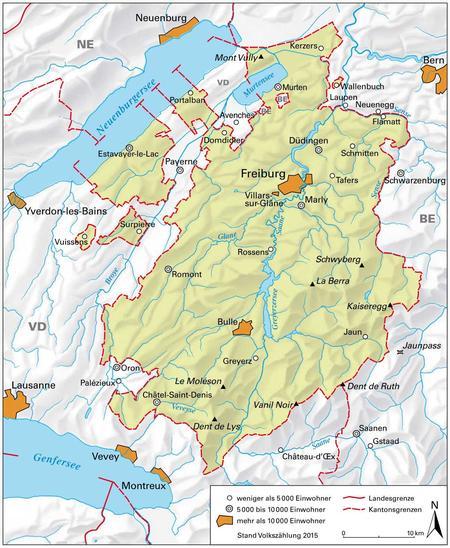 Freiburg Schweiz Karte.Freiburg Kanton