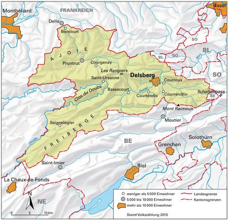 Cantoni Cartina Politica Svizzera.Giura Cantone